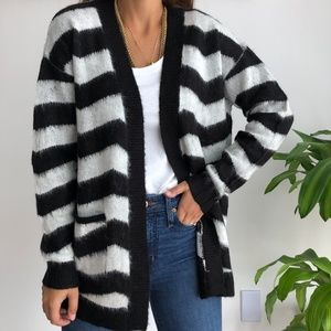 NEW Love by Design black white stripe cardigan